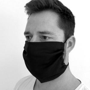 Enobarvno bombaž maska KAMA z žep na filter, Kama