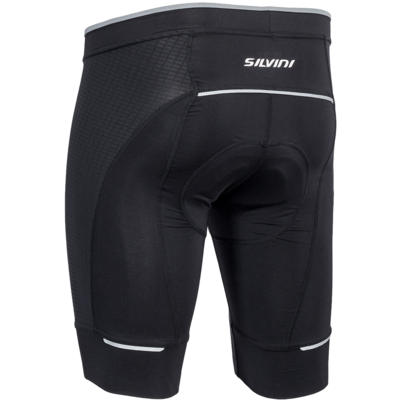 Moški kolesarjenje hlače Fortore MP1003 črna, Silvini