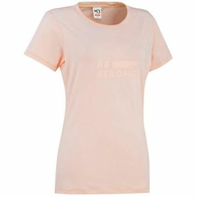 Ženska elegantna majica s kratkimi rokavi Kari Traa Tvilde 622450, roza
