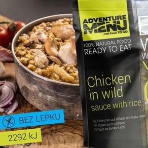 Adventure Menu piščanec na slap-pok z riž