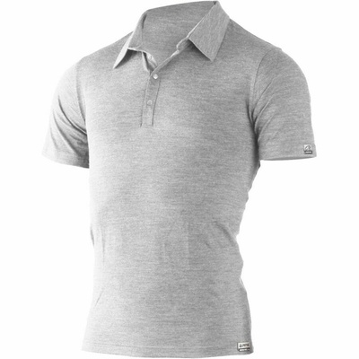 Moški volna polo majice Lasting ELIOT 8484 siva, Lasting