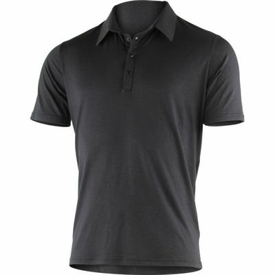 Moški merino polo majice Lasting JARIS-9898 Črna, Lasting