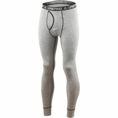 Moške dolge hlače iz merina Lasting WRAK-3189 siva, Lasting
