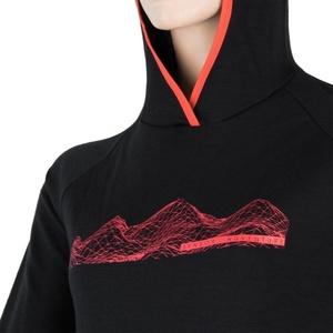 dame majica Sensor MERINO UPPER MOUNTAINS črna 18200041