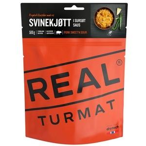 Real Turmat svinjina z riž v sladek kiselec omaka, 127 g, Real Turmat