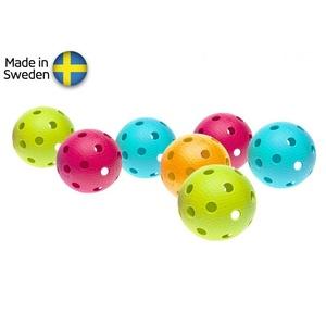 niz floorball kroglice Salming Aero Ball 10-pack, barva mix, Salming
