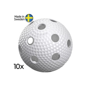 niz floorball kroglice Salming Aero Ball 10-pack bela, Salming