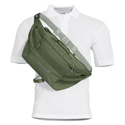 Telamon Pentagon® olivno črtasta torba za čez ramo, Pentagon