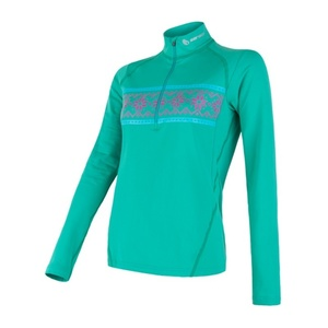 ženske majica Sensor MERINO THERMO zelena / vzorec 18200055, Sensor